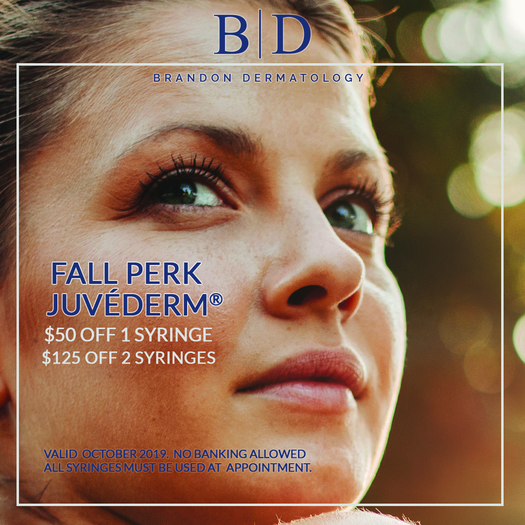 Juvederm FALL PERK $50 off one syringe of Juvederm $125 off two syringes of Juvederm